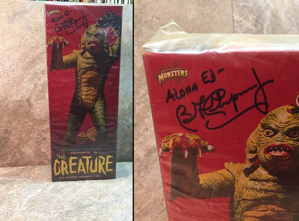 Creature From the Black Lagoon Signed Model Kit ~