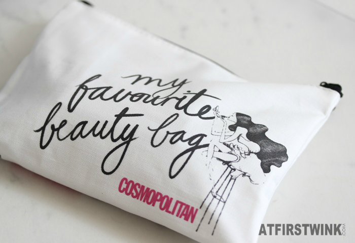 Cosmopolitan magazine subscription surprise beauty box: canvas cosmetics bag