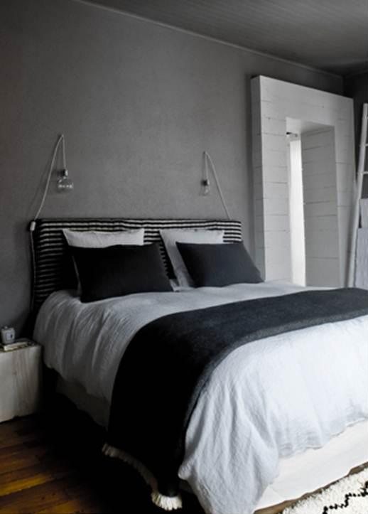 En mi espacio vital muebles recuperados y decoraci n - Dormitorios blanco y negro ...