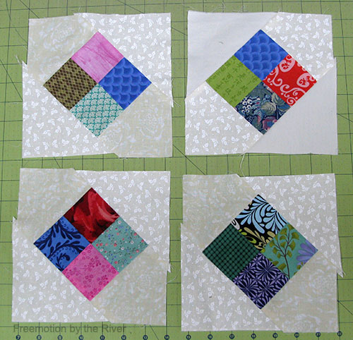 Make up lots of blocks with your scraps