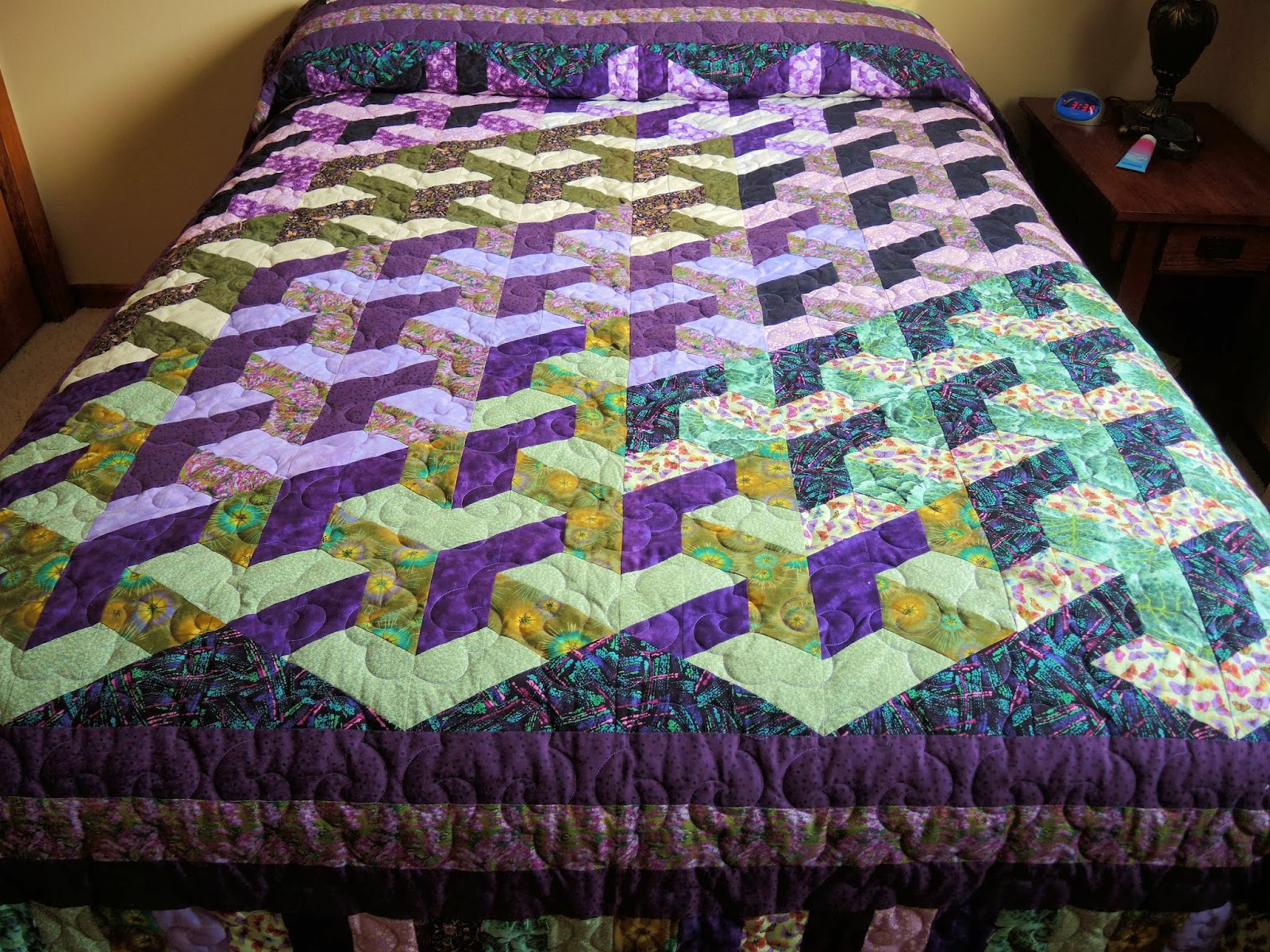 Quilt made by Sharon Hartman