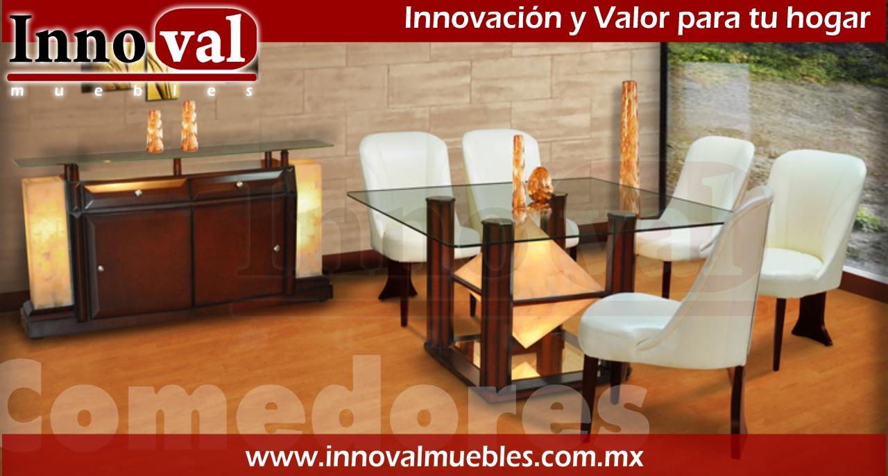 Innoval muebles modernos en m xico comedores con onix natural for Comedores modernos mexico df
