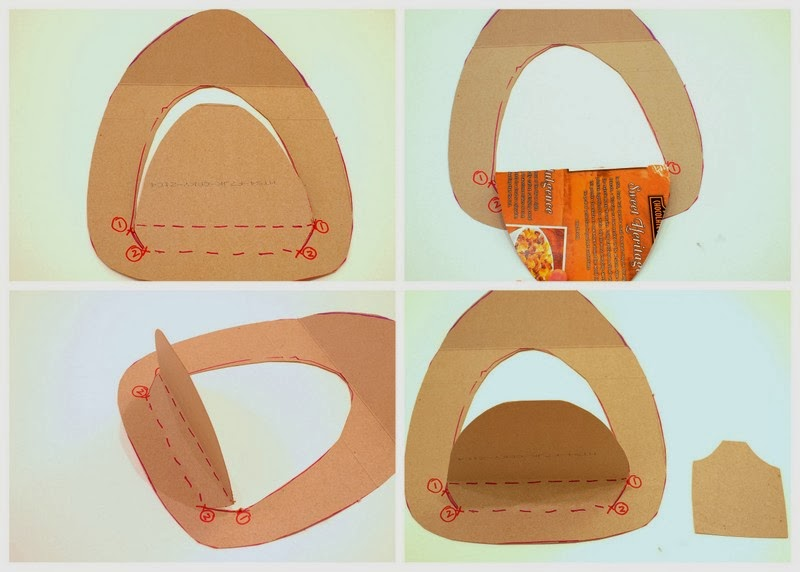 Steps to make a cereal box fireman's hat