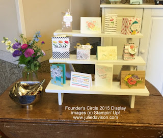 Stampin' Up! Founder's Circle 2015 Display #stampinup www.juliedavison.com