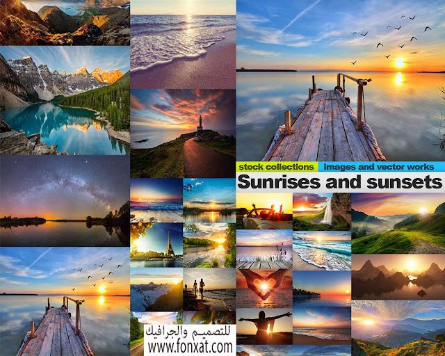 مجموعة خلفيات طبيعية لشروق الشمس HD عالية الوضوح