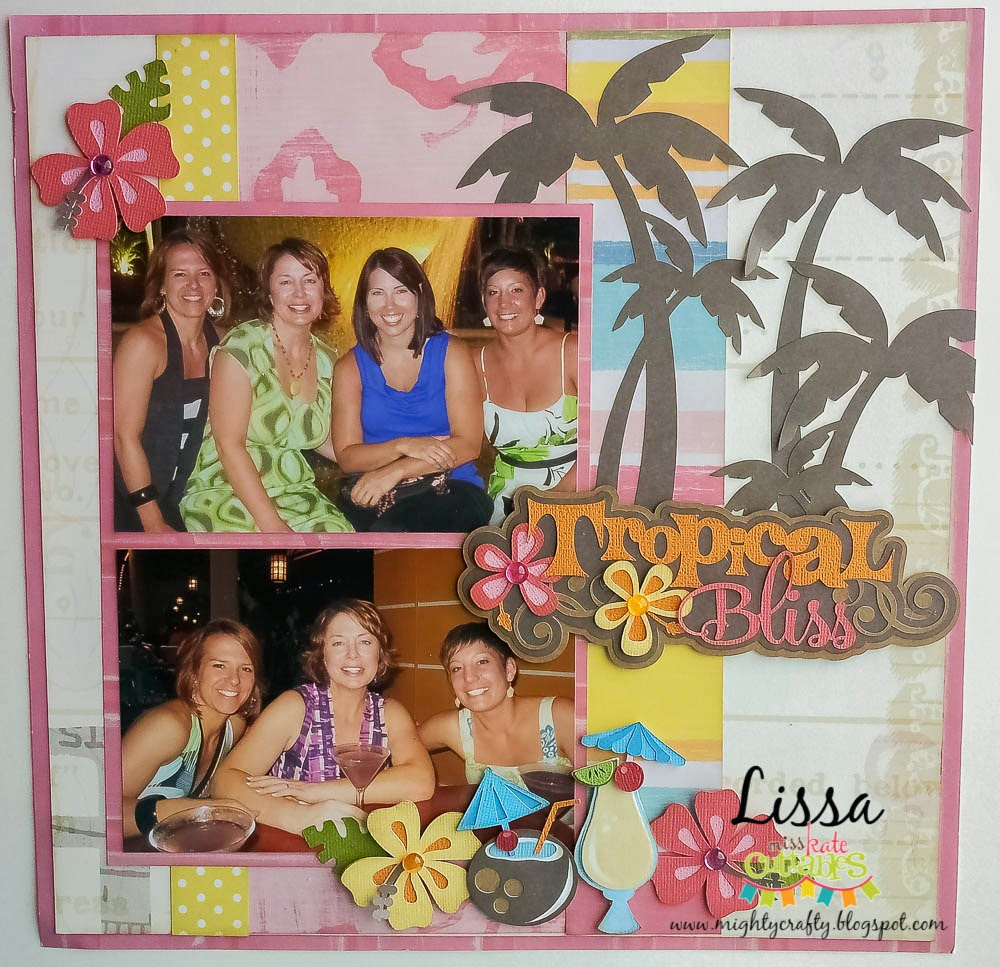 Tropical Bliss layout for Miss Kate Cuttables -- www.MightyCrafty.me