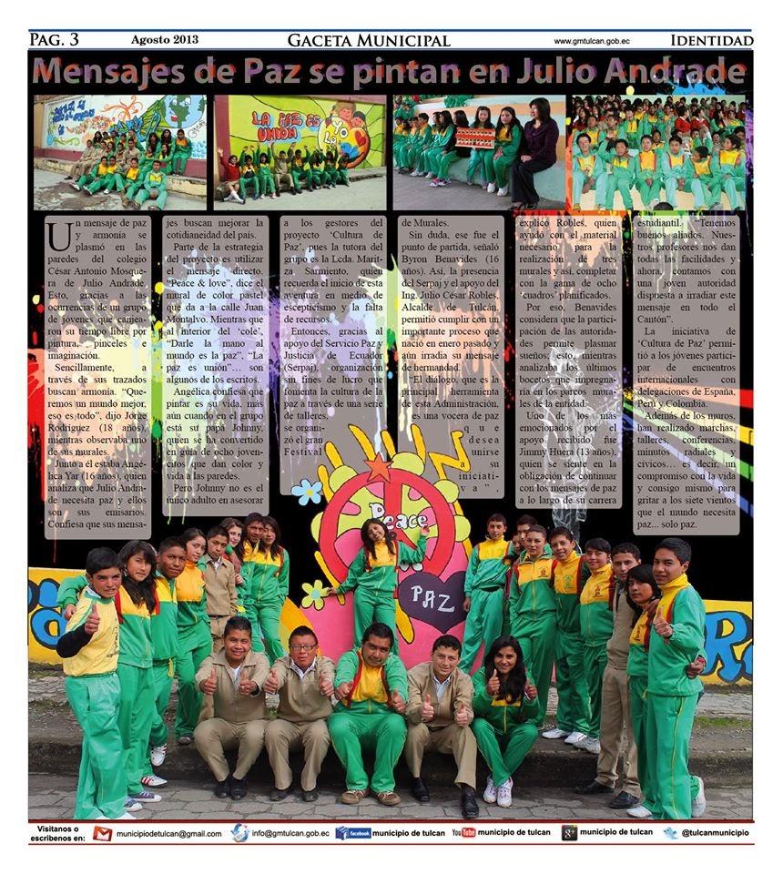 """El Proyecto """"ser y hacer"""" 2012 -2013"""