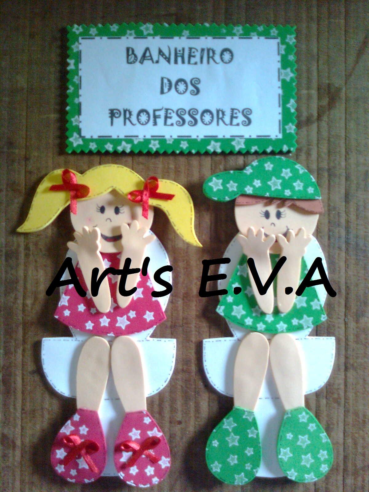 Art's E.V.A: Guirlandas para porta de banheiro #277DA4 1200x1600 Banheiro Azul Banda