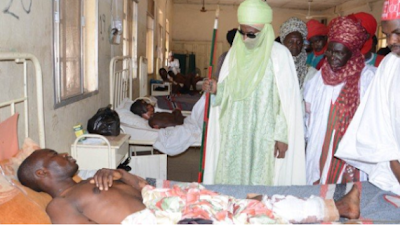sanusi visit kano bombing victims