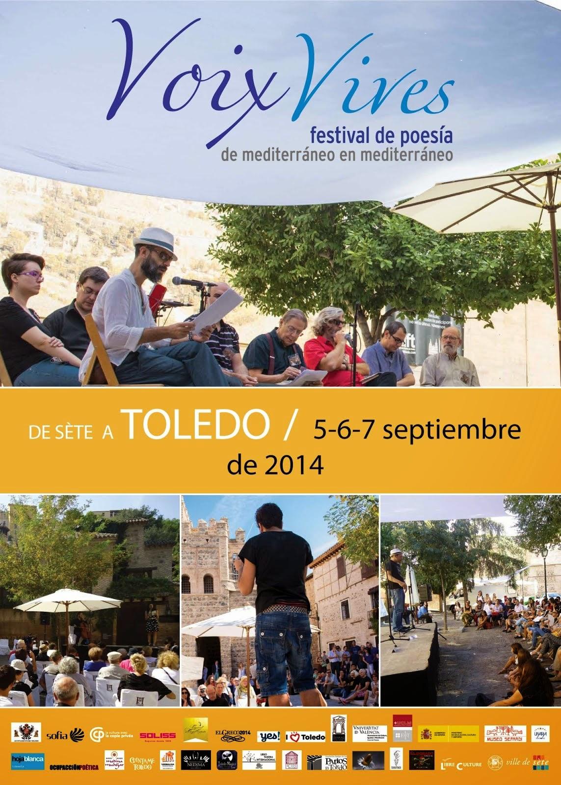 Voix Vives, de Mediterráneo en Mediterráneo. Festival Internacional de poesía en Toledo