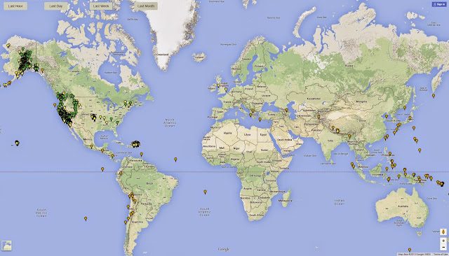 Live Earthquake Map with Shiny and Google Map API
