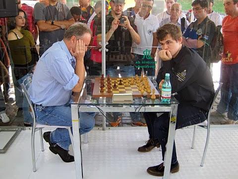 Le Norvégien Magnus Carlsen a concédé une seule nulle face au grand-maître brésilien Gilberto Milos © site officiel