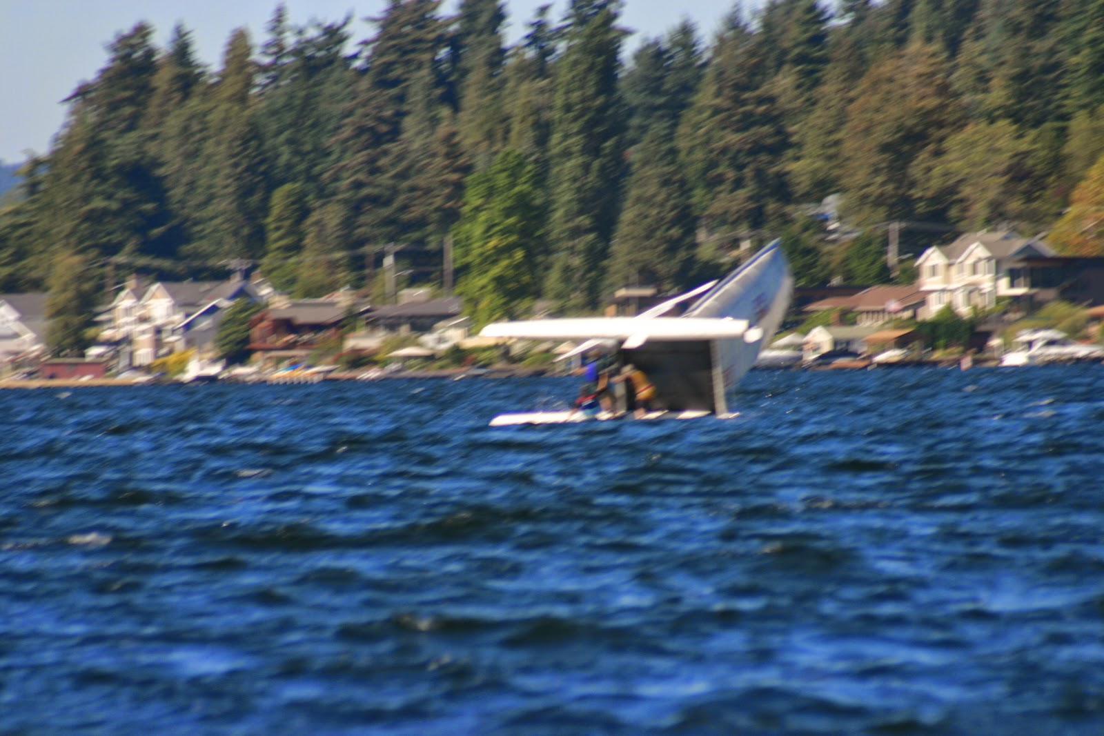 Righting a capsized hobie cat 2