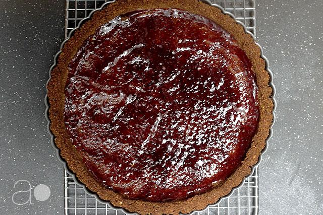 ambrosia: Nectarine, Pistachio, and Gingersnap Tart