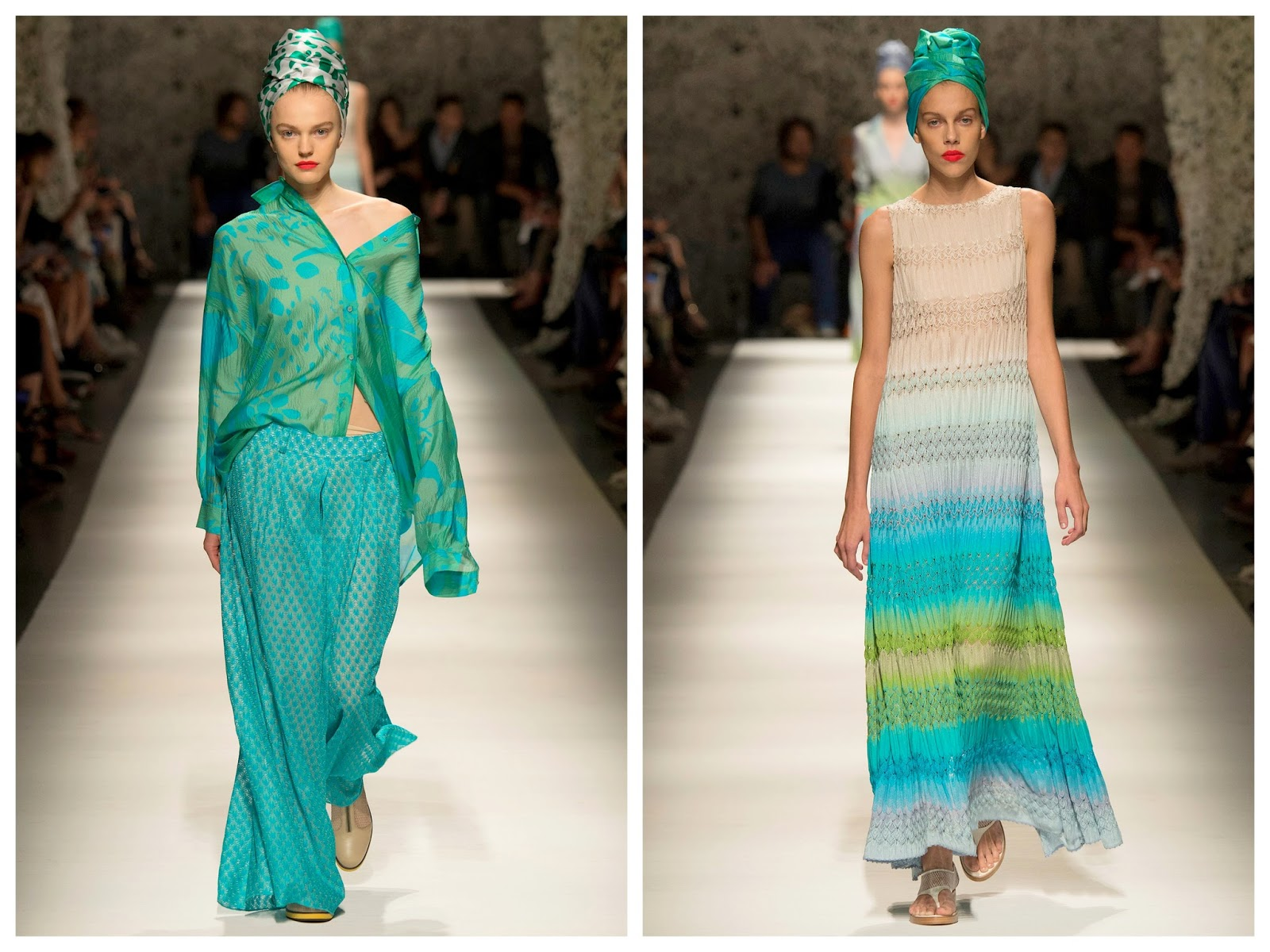 missoni,summer 2015,été 2015,milan fashion week,couleurs sorbet, maille