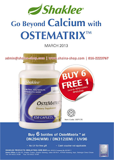 OsteoMatrix Shaklee Promotion Picture