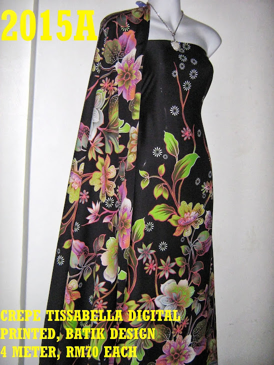 CTD 2015A: BATIK CREPE TISSABELLA DIGITAL PRINTED, EXCLUSIVE DESIGN, 4 METER