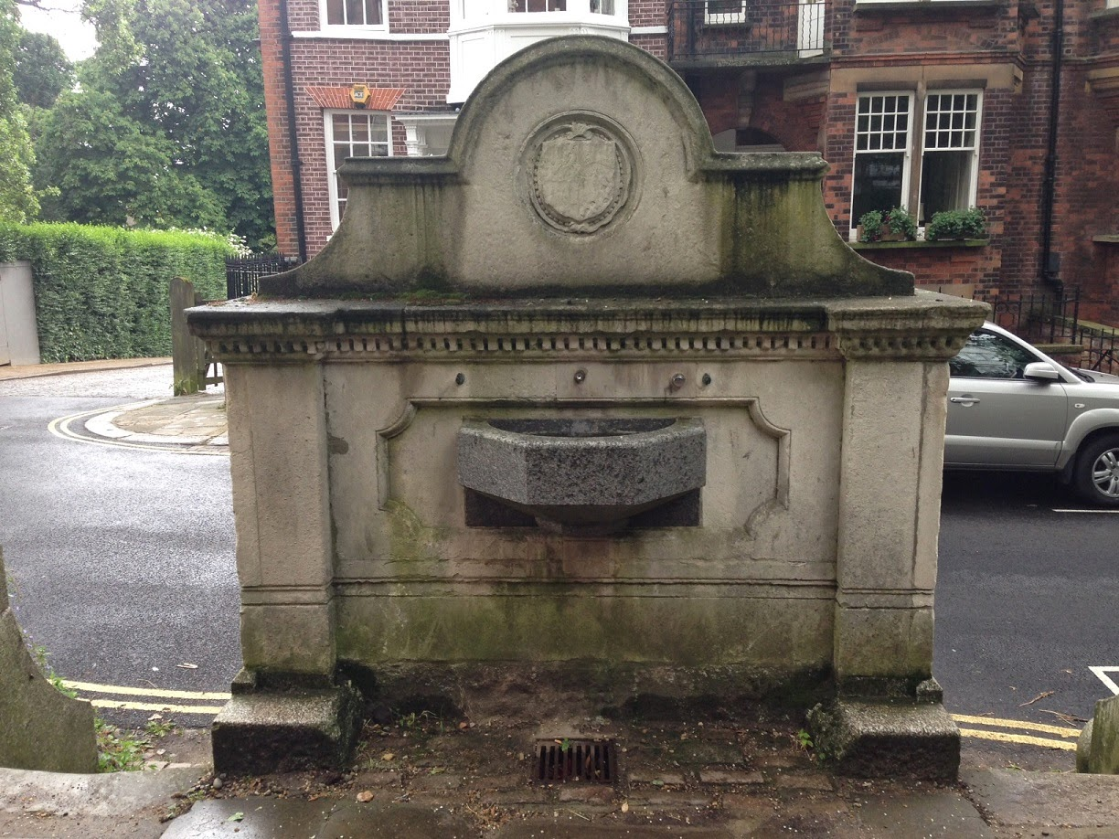 The back of the Chalybeate Well, Hampstead, London NW3