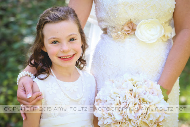 photo of flower girl at fall wedding