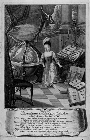 Christian Heinrich Heineken by Johann Balthasar Probst, 1724
