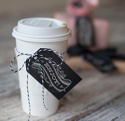 Free printable chalkboard gift tag