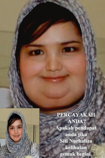 gambar siti nurhaliza gemuk montel comel chubby 2011 2012