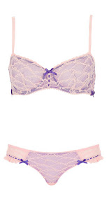 TOPSHOP Purple and Peach Lace Set