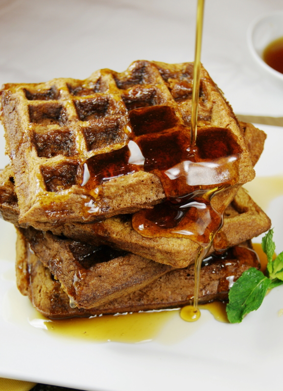 Gingerbread Waffles - The Kitchen is My Playground