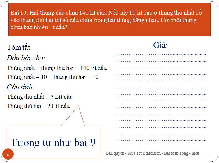 Bài toán tìm hai số khi biết tổng.hiệu(9)