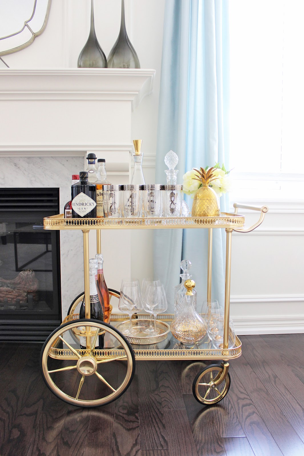 Vintage Bar Cart Styling