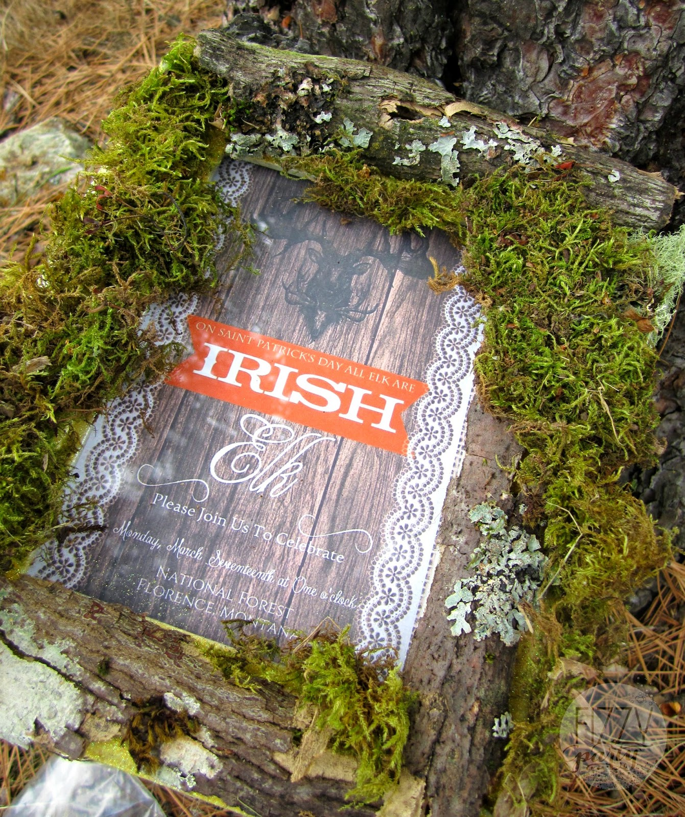 Irish Elk invite by Funky Monkey Designs for Fizzy Party