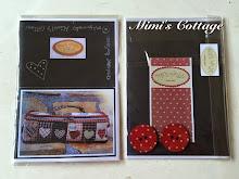 Patrón,instrucciones y botones Costurero corazones Mimi