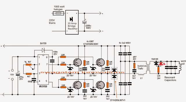 induction heater circuit using igbt