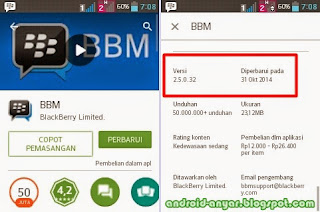 Free download official BBM for Android v.2.5.0.32 .apk full