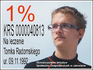 1% na rzecz naszego Tomka