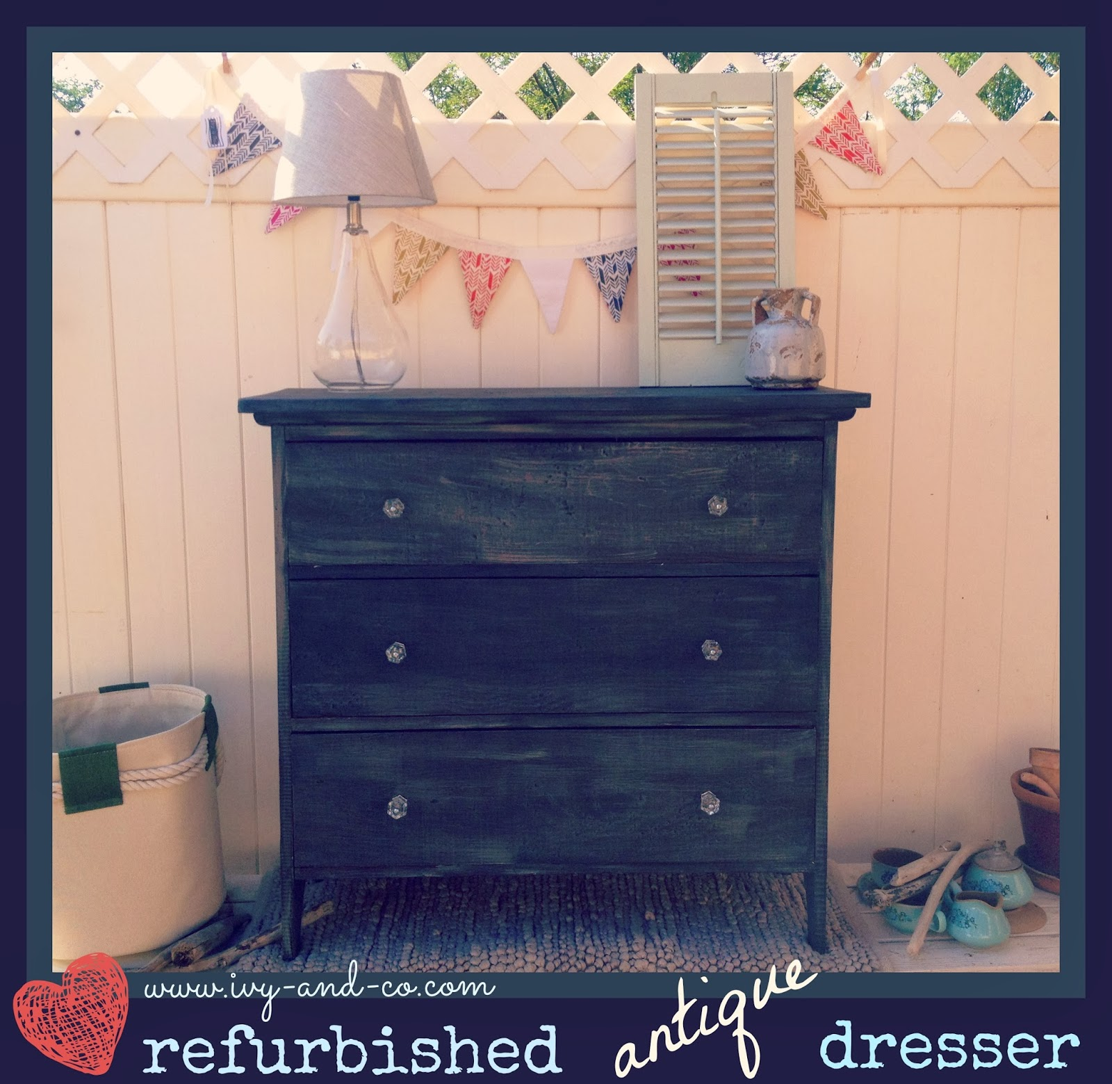 painting furniture black DIY dresser