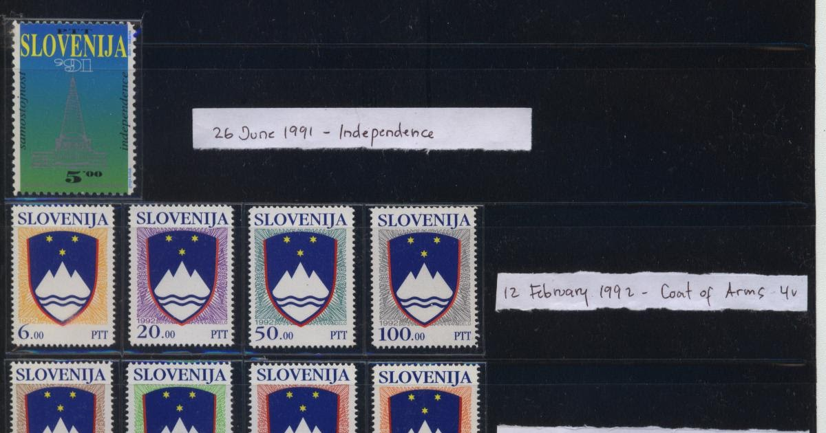 slovenian indepedence 25 june - the slovenian assembly promulgates legislation on slovenia's independence, including the basic charter of slovenia's independence and the declaration of independence a day earlier, slovenia gets a new flag and a new coat of arms.