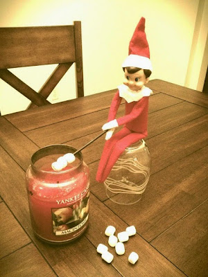 Elf on the Shelf Gets Into Mischief Around the House