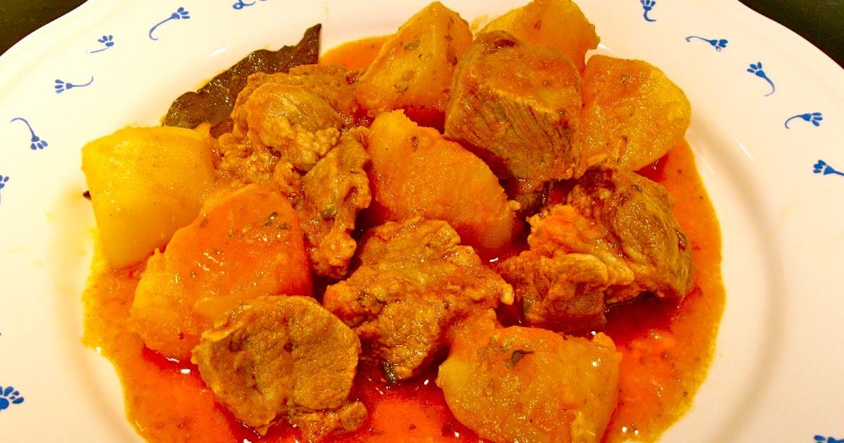 La cocina en el sur guiso de patatas con carne de cerdo - Guiso de carne de cerdo ...