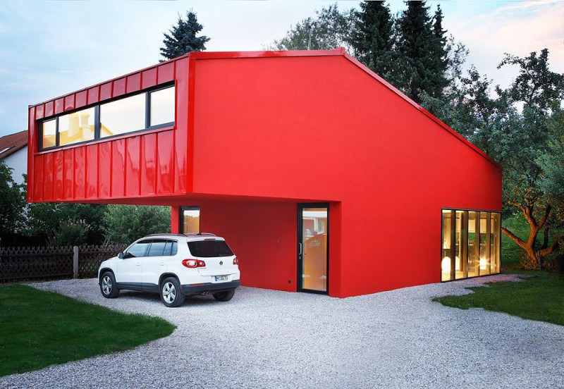 Munich Based Studio Architekturbureau Jakob Bader Has Designed The House V  In Unterfoehring, A Municipality In Upper Bavaria Near Munich, Germany.