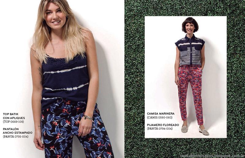 Ver palazzos y pantalones pijama verano 2015 moda mujer.