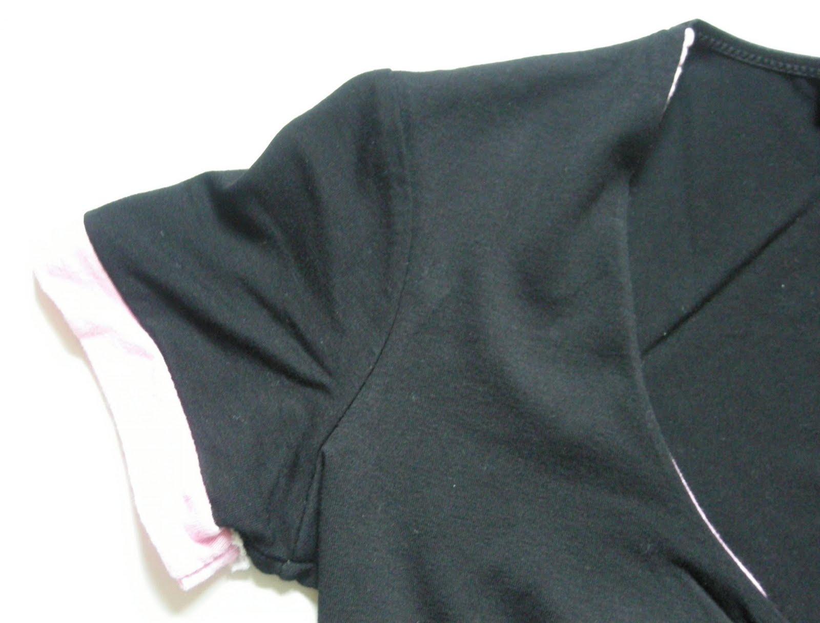 tenue soirée dans vide dressing de Flora : RECTANGLE BLANC - Haut noir et rose - T2 - NEUF