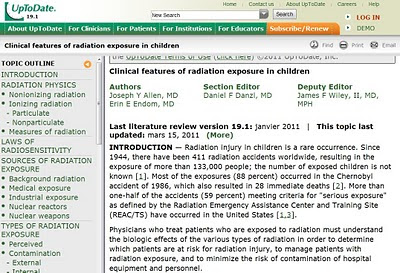 Clinical features of radiation exposure in children UpToDate