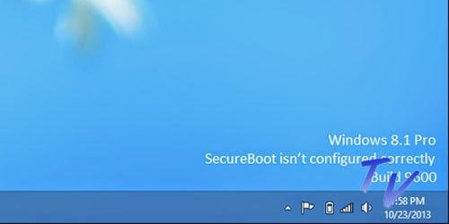 Watermark Windows 8 Enterprise 8.1 Pro