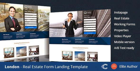 Premium Real Estate Landing Page Template