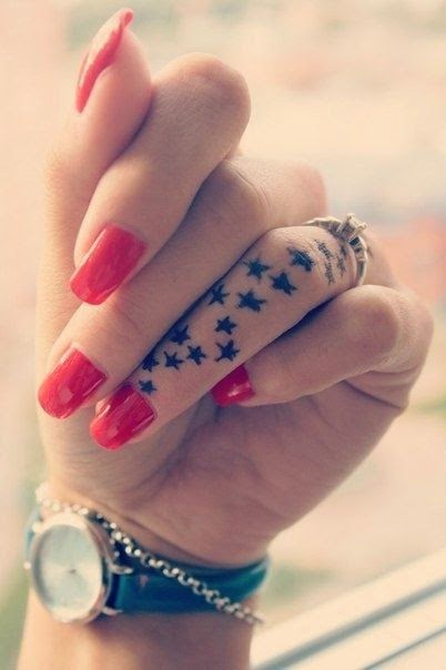 ♥  ♫ ♥ Star Galaxy Finger Tattoos  ♥  ♫  ♥