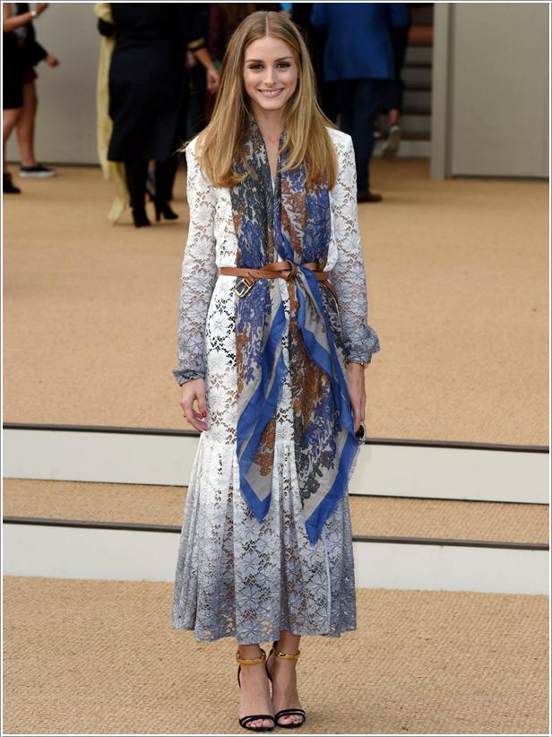 The Olivia Palermo Lookbook London Fashion Week Ss15 Olivia Palermo At Burberry