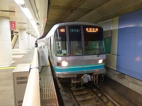 東京メトロ南北線 赤羽岩淵行き 9000系