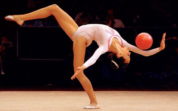 Amazing flexible female gymnasts