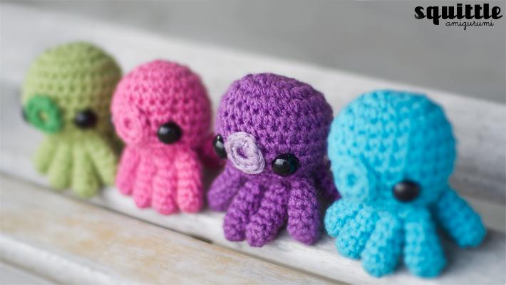 Amigurumi Kawaii Free Patterns : Baby Octopus Amigurumi Pattern Adorably Kawaii